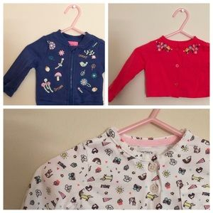 Other - Nice Bundle Baby Girl 6 Months Cardigans Sweaters